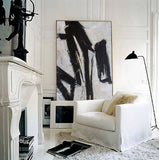 extra Large  Black and white painting on canvas