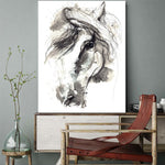 Decortion Abstract Horse Canvas Art
