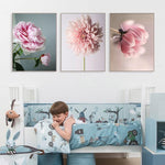 Nordic Poster Beauty Life Pink Flowers Home Decoration