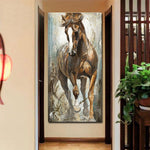 Modern Vertical Canvas Horse Painting Cuadros no frame