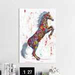 Jumping Horse For Living Room Home Decor No Frame