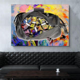 Colorful Dollars Money Bags Decor