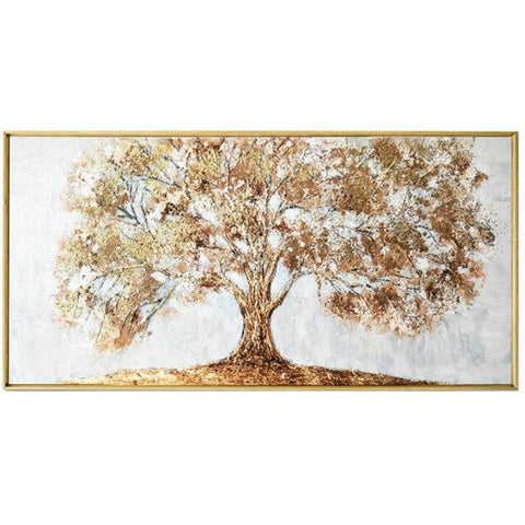 Hand Painted Knife Gold Tree Oil Painting On Canvas Large Palette 3D Paintings