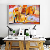 Painting Horse  For Living Room  No Frame
