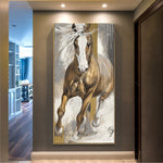 Modern Vertical Canvas Horse decor