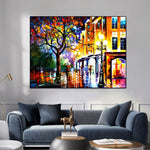 Landscape Street Tree Wall canvas print decor
