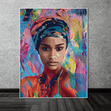 Abstract Figure painting art  Canvas print