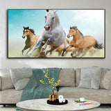 Seven White Horses Decorative Home Decor Big Size