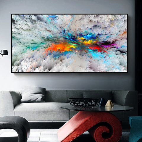 Landscape Picture Canvas Print Abstract Cloud No Frame