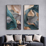 Modern Abstract Luxury Ribbon Gold Art