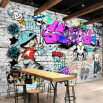 Fashion Style Trend Street Art Graffiti Brick Wall Background
