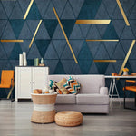 3D Abstract Geometric Luxury Mural Modern Bedroom