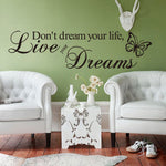 Art Words Wall Sticker  Decoration Bedroom Removable