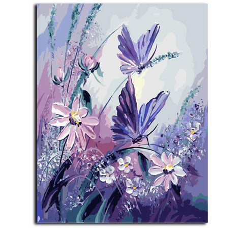 Frameless Painting By Numbers On Canvas 40*50cm Butterfly