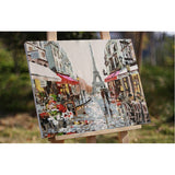 Paris Street DIY Painting By Numbers Handpainted Unique Gift 40X50 Cm