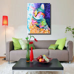 The Colorful Cat Canvas Printing