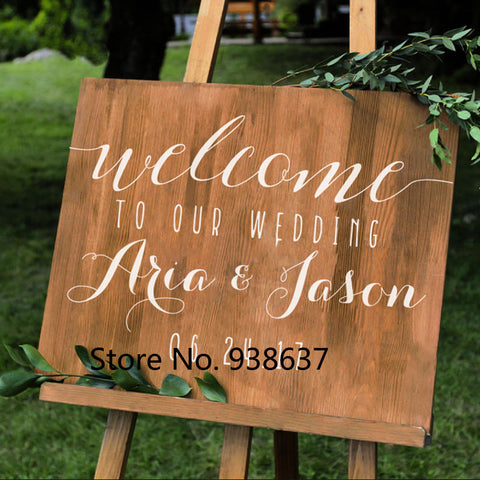 Simple Vinyl Wall Decal Stickers For Wedding