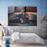 Cat and Tiger Pictures Paintings Canvas Wall Art