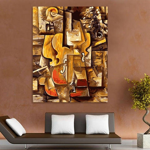 coloring by numbers Picasso violin digital