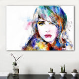 Watercolor Girl Portrait Wall Picutures
