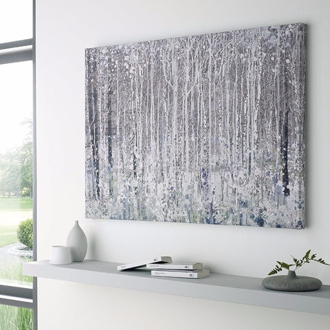 ' Abstract Unique Modern  White, gray, black'  Painting