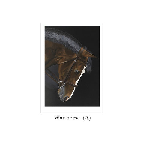 Nordic Style HD War Horse Canvas Posters