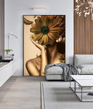 Style Girl And Flower Wall Art