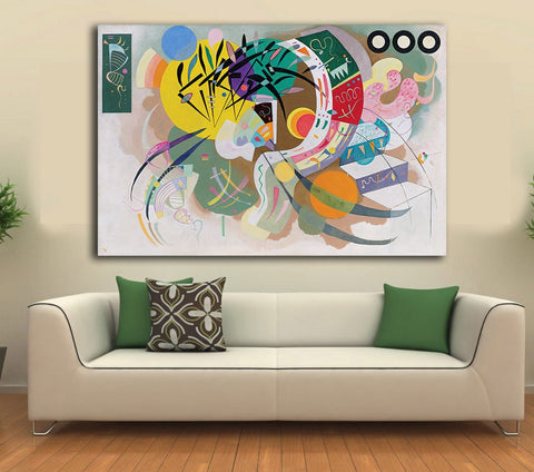 Dominant Curve by Wassily Kandinsky Decoration Paints Home Decor On Canvas