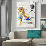 Famous Abstract Kandinsky Geometric Patterns Canvas