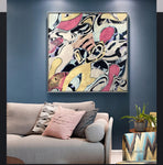 Picasso Abstract  Famous Color Wall Art  Printed On Canvas