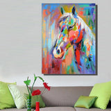 Colorful Horse Picture Canvas Print