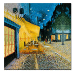 Abstract Watercolor Van Gogh Street Cafe Night