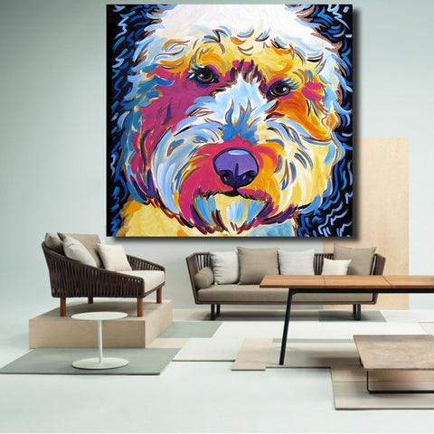 Golden doodle Dog Pop Canvas Printing