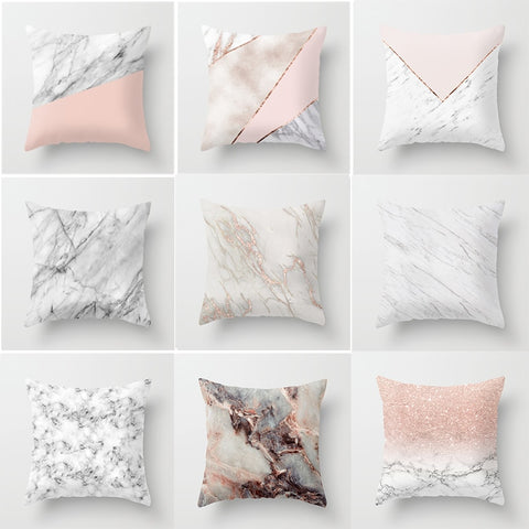 Marble Texture Geometric Cushion cover 45x45cm  Sofa Home Decor