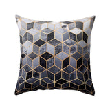 Nordic Style Geometric Cushion Cover Polyester Black And White