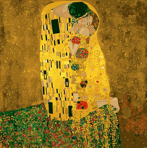 Kiss gustav klimt DIY Painting By Numbers Home Decoration