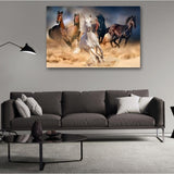 Canvas HD Prints Poster Running Horses