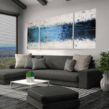 3 Panel Graffiti Line Acrylic Modern Painting