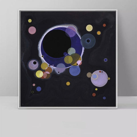 WASSILY KANDINSKY In The Black Circle (Black Relationship) Classic art