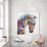 Horse Portrait Canvas Decor No Frame