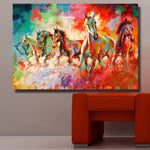 Decorations No Framed Horse on Canvas Wall Art