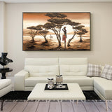 African Woman Paintings On The Wall Classical Sunset Landscape Wall Art
