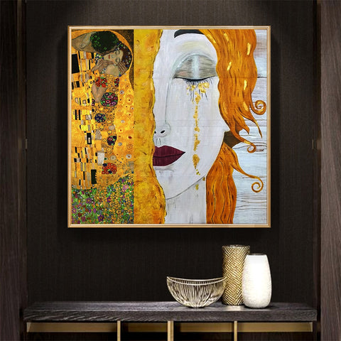 golden tears Gustav Klimt Reproduction oil on canvas Printed