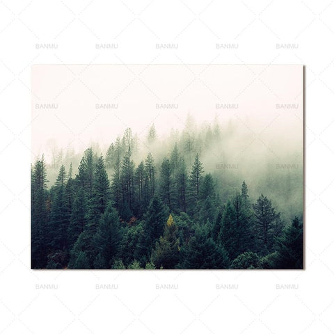 Llandscape poster art forest Picture wall