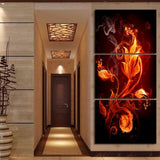 Flame Flower Modular Picture Wall