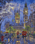 Paris London night view painting By Numbers Wall Art 40X50CM