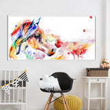 Art Canvas Animal Painting Watercolor Horse ( No Frame)