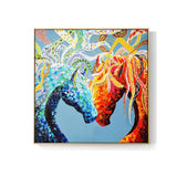 Abstract Couple Colourful Horse