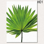 Canvas Poster Green Tropical plants Palm No frame