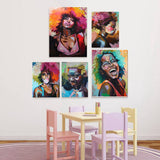 Portrait Woman Canvas Wall Art
